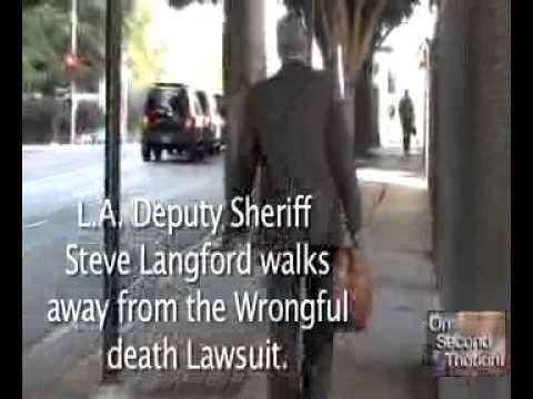 Clearly Justice was denied,  the parents and grandparents of Joey and Racheal  who were murdered, got no justice.  Steve Langford, who has refused interview, walked away.  Two Members of the State BAR Association of California, Gonzales defending Los Angeles Deputy Sheriff Steve Langford, and Dale, atty. for Marappolus Family,  IN MY OPINION, co...