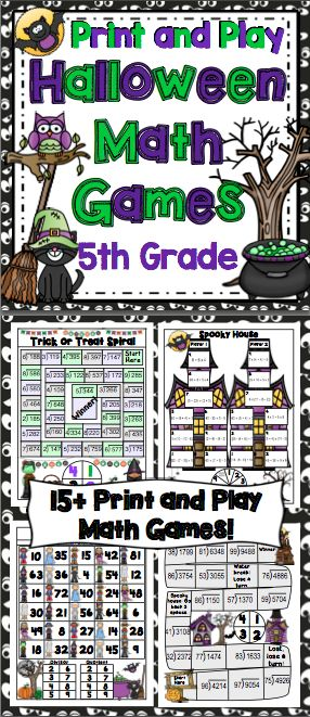 halloween math games 5th grade - Online Halloween Math Games