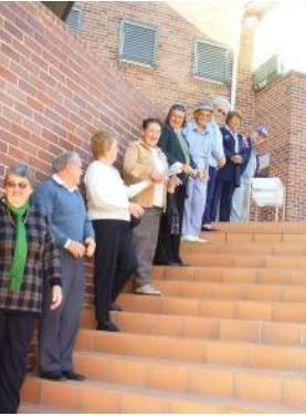 """Hawkesbury Central Library re-opened at  new premises at 300 George Street Windsor on Monday 6 June 2005. Members of the community participated in a """"Human Chain"""" event with 420 people passing books from the old  library in Dight Street to the new building."""