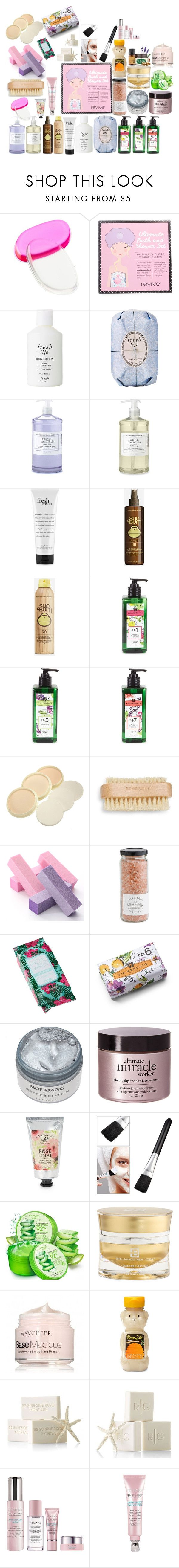 """""""Beauty In ur Bath"""" by daquashiasalaam ❤ liked on Polyvore featuring beauty, Charlotte Russe, Fresh, Williams-Sonoma, philosophy, Sun Bum, Pré de Provence, Urban Spa, Forever 21 and Mark & Graham"""