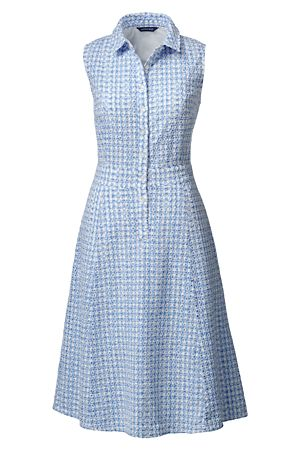 Women's Sleeveless Broderie Anglaise Shirtdress - Land's End £130