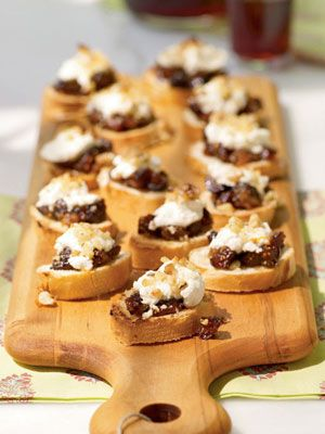 Fig and Goat Cheese Bruschetta #appetizers
