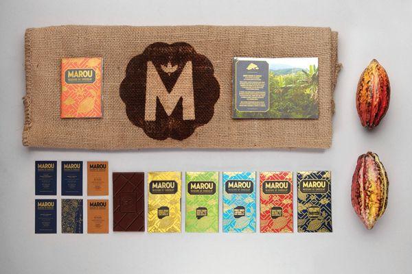Marou Faiseurs de Chocolat by Rice Creative , via Behance