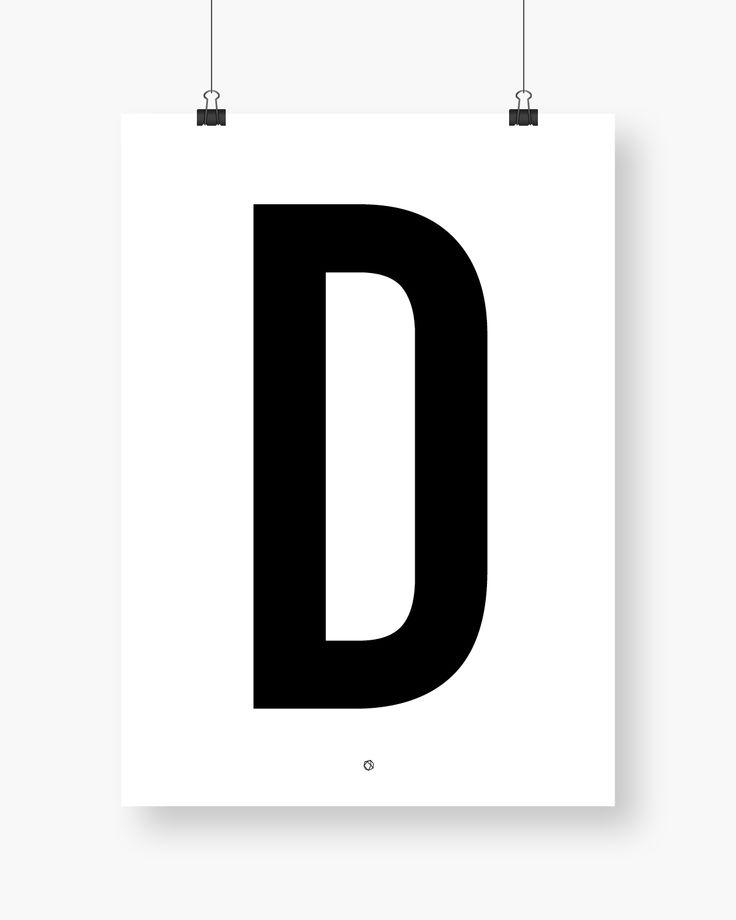 Big & Bold D #typography #typographyposter #letterposter #minimalistisk #minimalisticposter #cleanposter #enkontrast #enkontrastposter