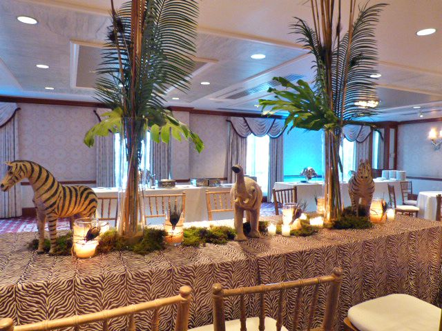 Safari themed table decoration nj wedding event decor for African party decoration