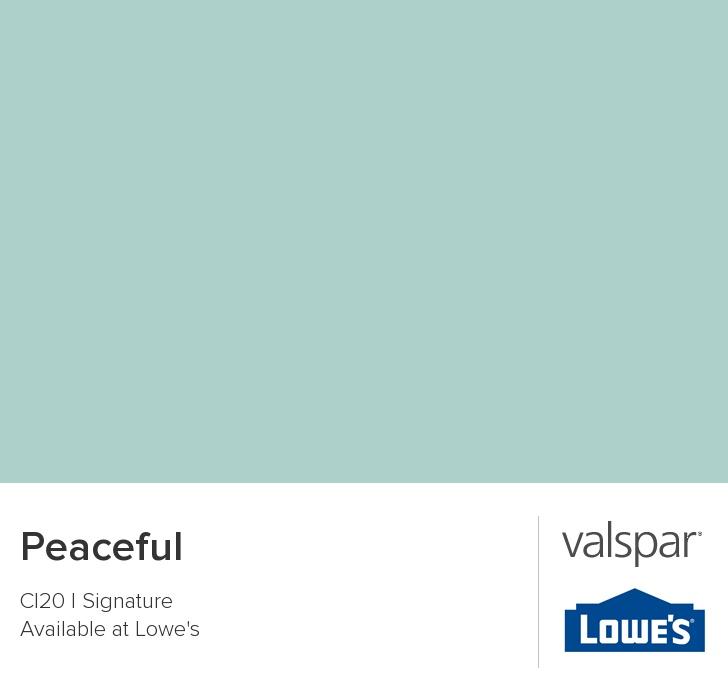 Valspar Paint - Color Chip - Peaceful
