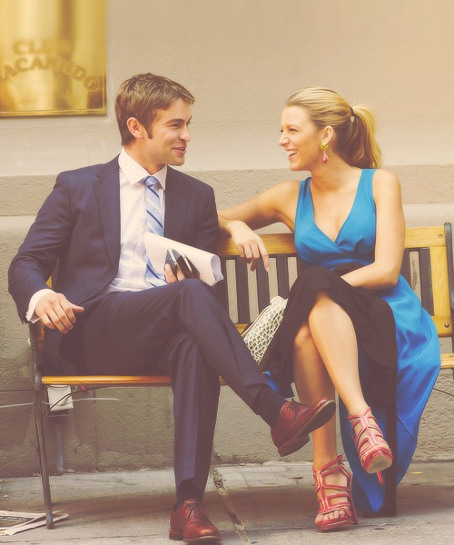 Chace Crawford (Nate) and Blake Lively (Serena)