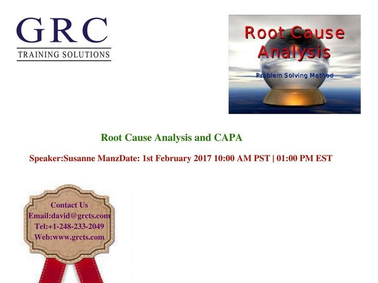 Description Validation is an important element of the Quality - root cause analysis