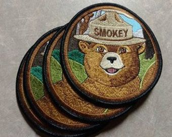 Smokey the Bear patch 2.5 inches high excellent detail for