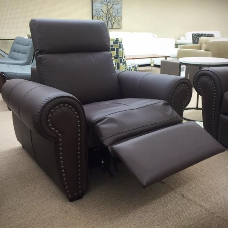 Delightful Dark Brown Leather Sofa With Nails. Ellis Brothers Furniture Store