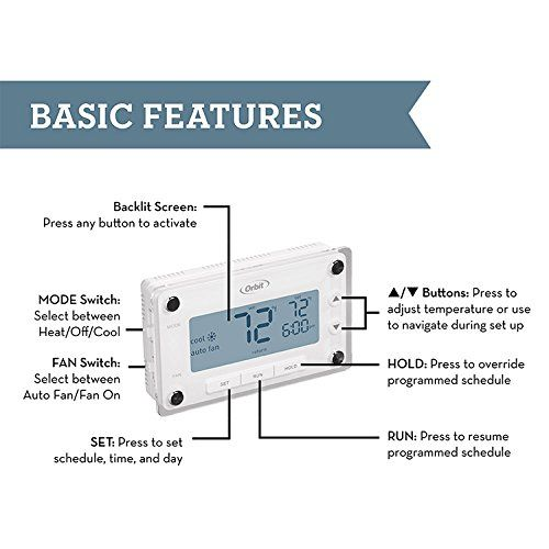 Comfort Programmable Thermostat Save Energy Cool Stuff Heating