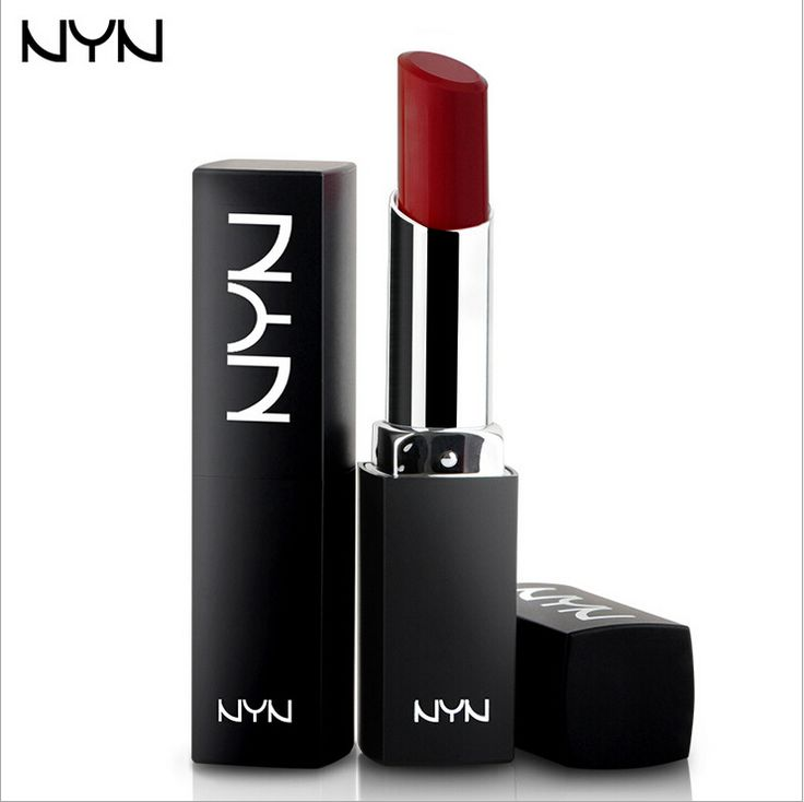 NYN 10colors Brand Alustful of Lipstick Waterproof Matte Lipstick Long-lasting Plump Lips Dark Red Lip Stick Moisture Makeup