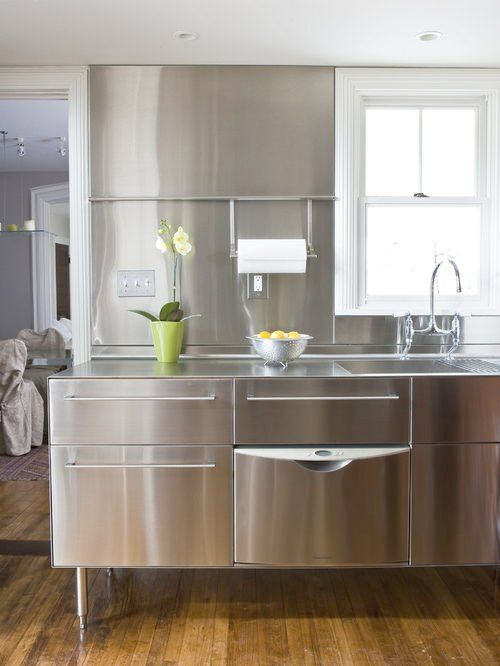 Marvelous Stainless Steel Cabinets Ikea Transitional Kitchen Photo