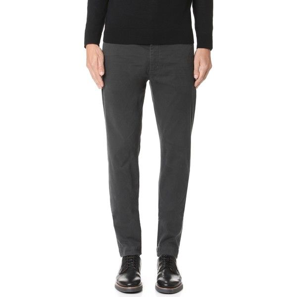 Citizens of Humanity Davis Skinny Chinos (3,355 DOP) ❤ liked on Polyvore featuring men's fashion, men's clothing, men's pants, men's casual pants, dark charcoal, mens super skinny dress pants, mens skinny pants, mens chinos pants, mens zip off pants and mens skinny chino pants