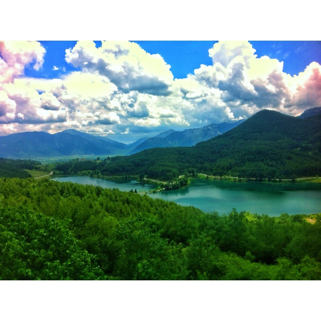 Lake Doxa in Greece. Beautiful view. Peaceful. Not easy to leave behind