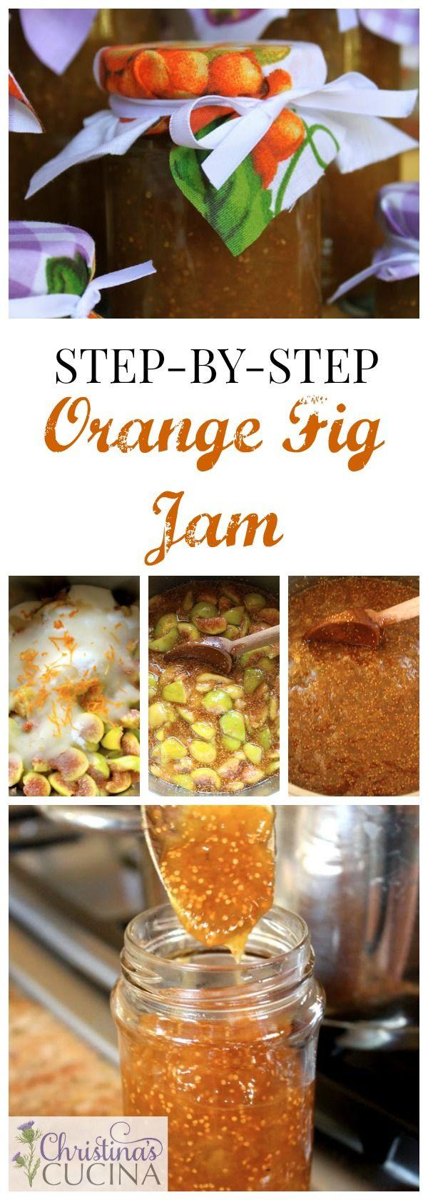 Not just fig jam, but orange-fig jam with orange liqueur!!