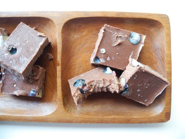 Raw Chocolate Blueberry Vegan Fudge