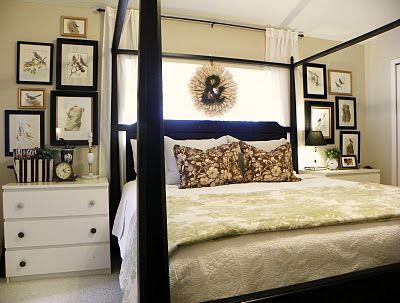 Winder and Main {LBP}: art arrangement: Vintage Books, Birds Prints, Cozy Master, Decor Ideas, Bedrooms Design, Houses Ideas, Master Bedrooms, Bedrooms Art, Old Books