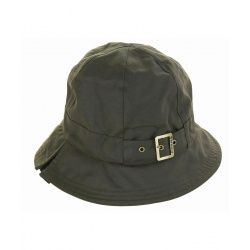 Womens Barbour Wax New Trench hat Olive