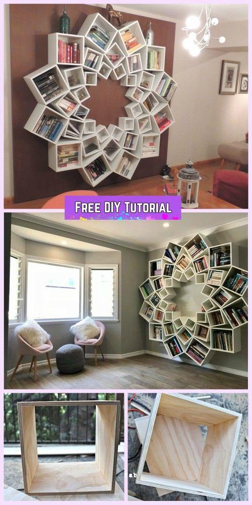 DIY Mandala Bookshelf By Jessica and Sinclair