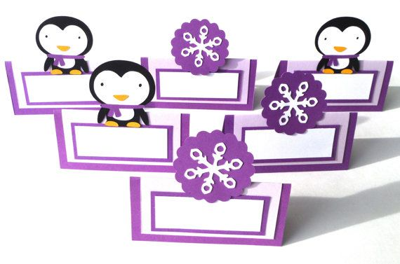 Winter Penguin and Purple Snowflake Themed 6 by ScrapsToRemember