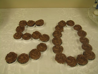 Create numbers with cupcakes.  Perfect for a birthday party and very little effort.
