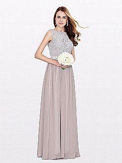 Sylvie - γραμμή α πάτωμα-μήκους σιφόν φορέματα κουμπάρας - EUR 97,54€