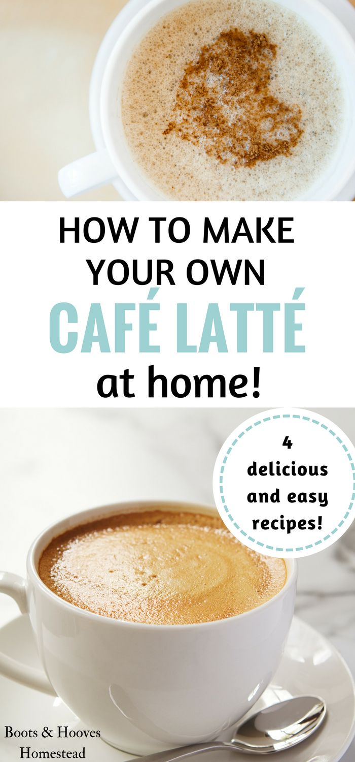 To make a basiccafé latté is pretty simple and doesn't require a ton of extra equipment. I recently started getting creative with learning how to make homemade lattésin my own kitchen. Learn how to make your own!