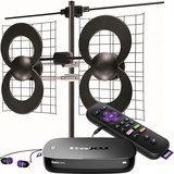 Roku - Roku Ultra Streaming Media Player & Antennas Direct ClearStream 4V Indoor/Outdoor HDTV Antenna Package