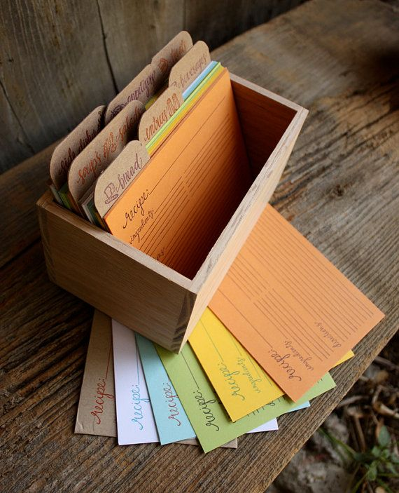 For the colorful cook: beautifully printed recipe cards.