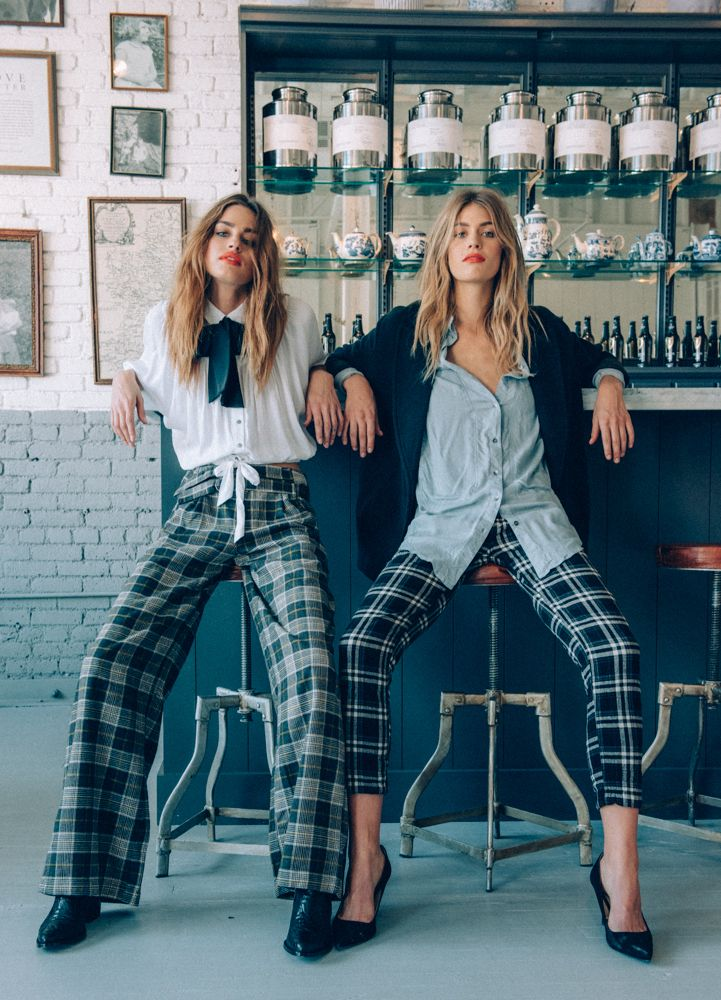Skinny plaid pants. Yep. MAD about plaid. #fashion #plaid