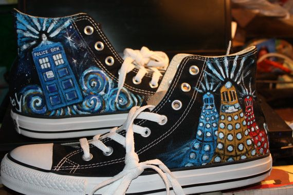 Doctor Who Converse High-Top Shoes