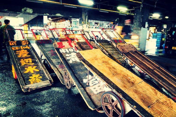 Muelle de carga Tsukiji Market - Tokio