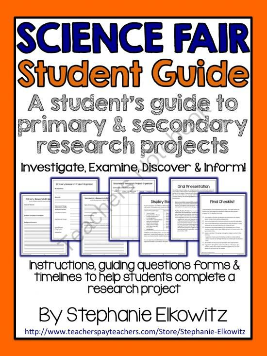 A Students Guide to Research Projects from Stephanie Elkowitz on TeachersNotebook.com -  (44 pages)  - A guide to conduct a primary or secondary research project.