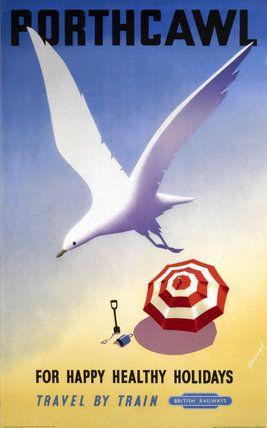 'Porthcawl', BR poster, 1952.