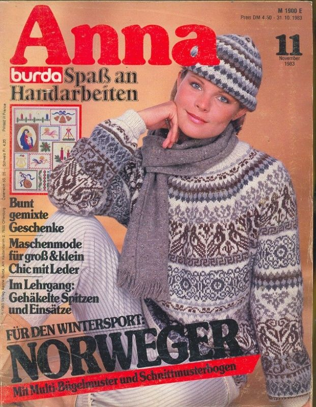 Knitting Magazine Cover : Best images about anna burda on pinterest libraries