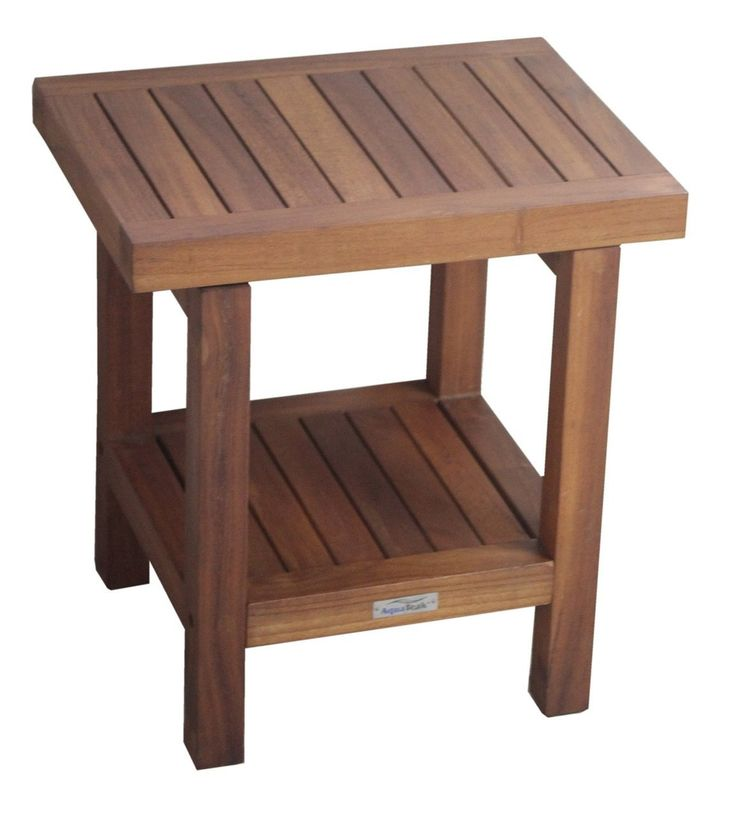 Teak Shower Bench | Teak Bath Stool | Teak Furniture - Aqua Teak  sc 1 st  Pinterest & 66 best bath bench images on Pinterest | Bathroom ideas Step ... islam-shia.org