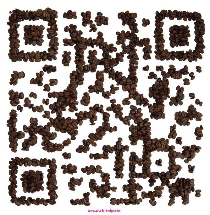 QR coffee beans designed by www.qrcode-design.com