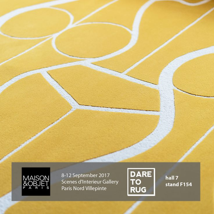 Dare to Rug - Collection II to be exhibited at Maison & Objet Paris in Scenes d'Interieur Gallery from 8-12 of September 2017