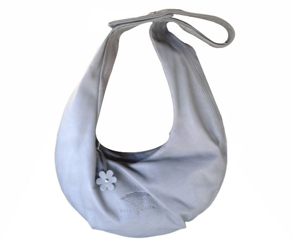 Grey Leather Mangwa Bag. #leather #fashion #bag #grey