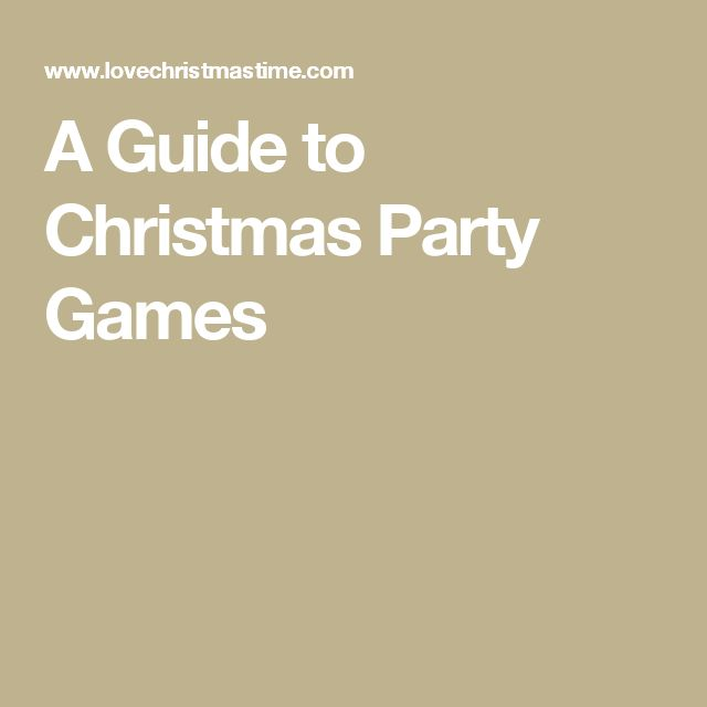 A Guide to Christmas Party Games