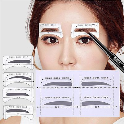 8Pairs Template Eyebrow Drawing Chttps://m.facebook.com/groups/517256998663714?view=permalink&id=543067309416016ard Stickers Brow Stencil Make Up Grooming Tool
