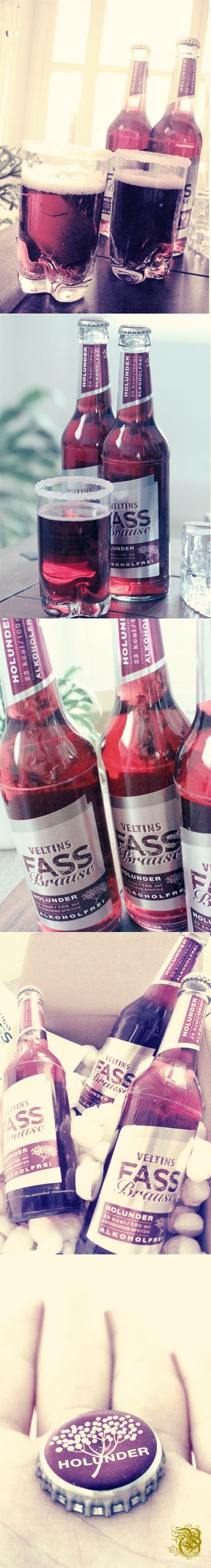 VELTINS Fassbrause Holunder  alcohol-free beer alkoholfreies Bier