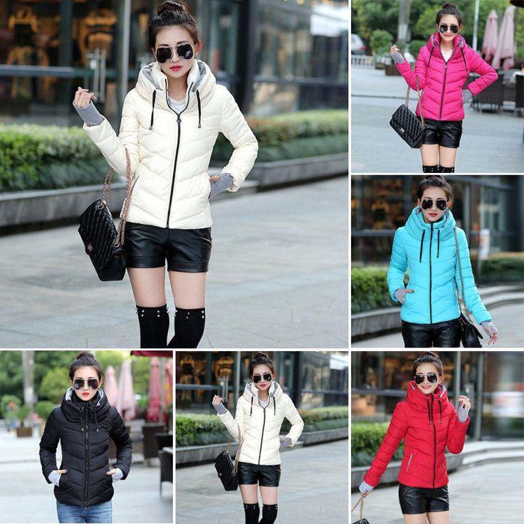 Winter Women Down Padded Parka Short Ladies Hooded Coat Jacket Outwear Nice