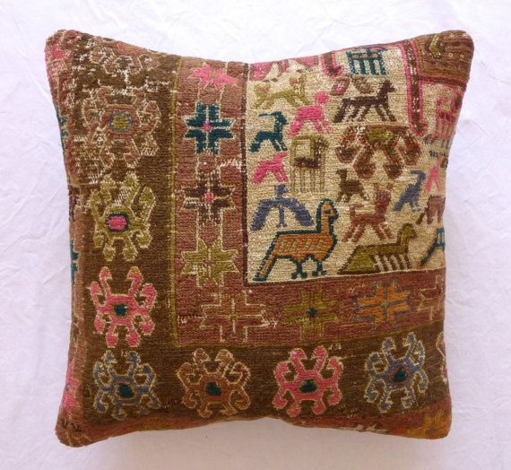 Decorative Throw Pillow Ethnic Animal design by PillowTalkOnEtsy, $54.00