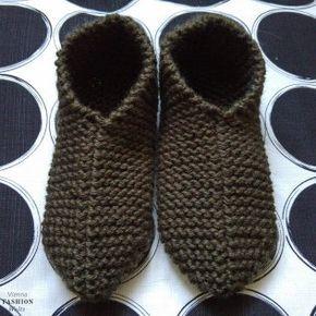 Hausschuhe selbstgestrickt, Stricken, gratis Anleitung, einfach, Wolle, warme Füße                                                                                                                                                                                 Mehr