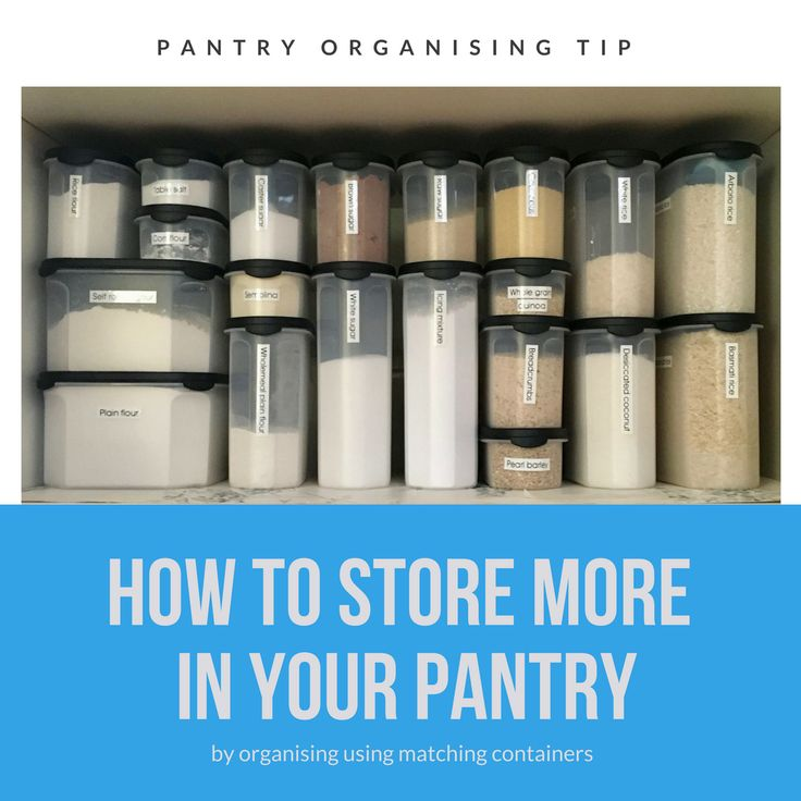 Pantry Organising Tip - Tips on how to store more in your pantry by Professional Organiser Amy Kennedy from The Organising Bee Canberra www.organisingbee.com.au
