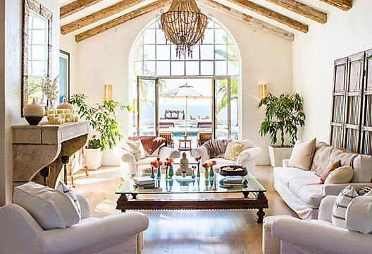 Coastal comfort meets Spanish Colonial charm in the  luxurious yet laid-back homes of Santa Barbara. From relaxed  slipcovered sofas to stately carved-wood accents, this  collection strikes just the right balance of ease and elegance.