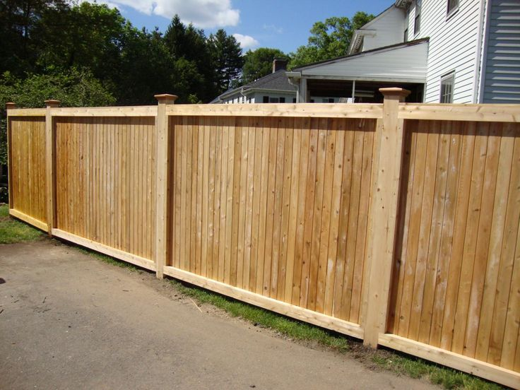 Privacy Fence Post And Groove Cedar Fence With