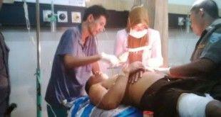 Korban saat dirawat di RSUD Tongas